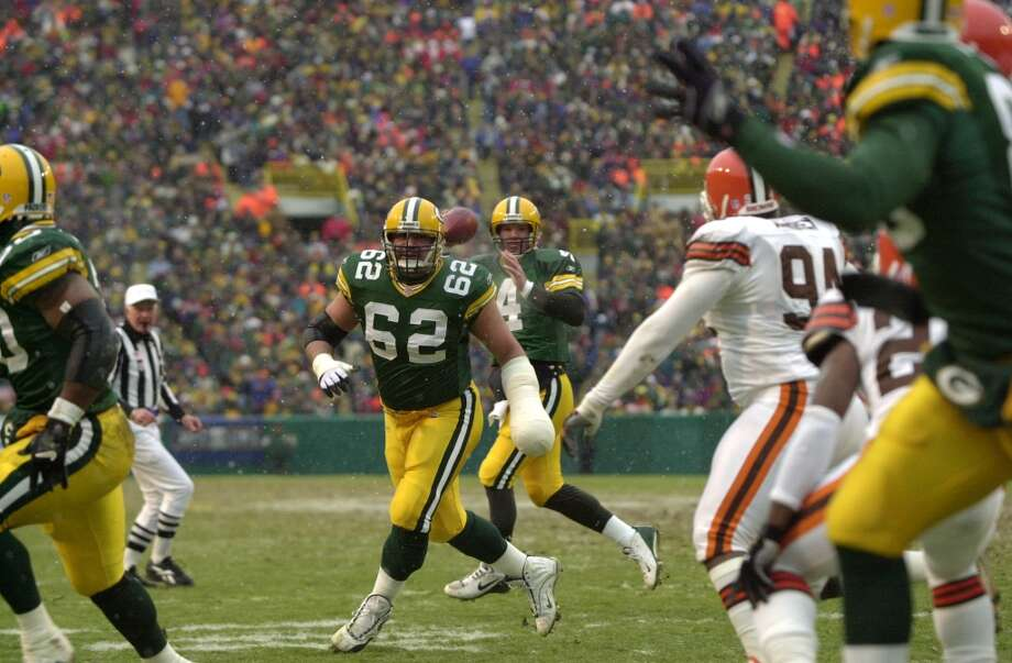 Pick No. 208 | 1996 | Green Bay Packers Marco Rivera | Center | Penn State Rivera anchored the line in Green Bay for 8 seasons, helping Brett Favre and the Packers reach Super Bowl XXXII after Rivera's rookie season. He signed a free-agent deal with the Cowboys in 2005 and retired two seasons later after three Pro-Bowl appearances in a 10-year career. Photo: Jonathan Daniel, Getty Images