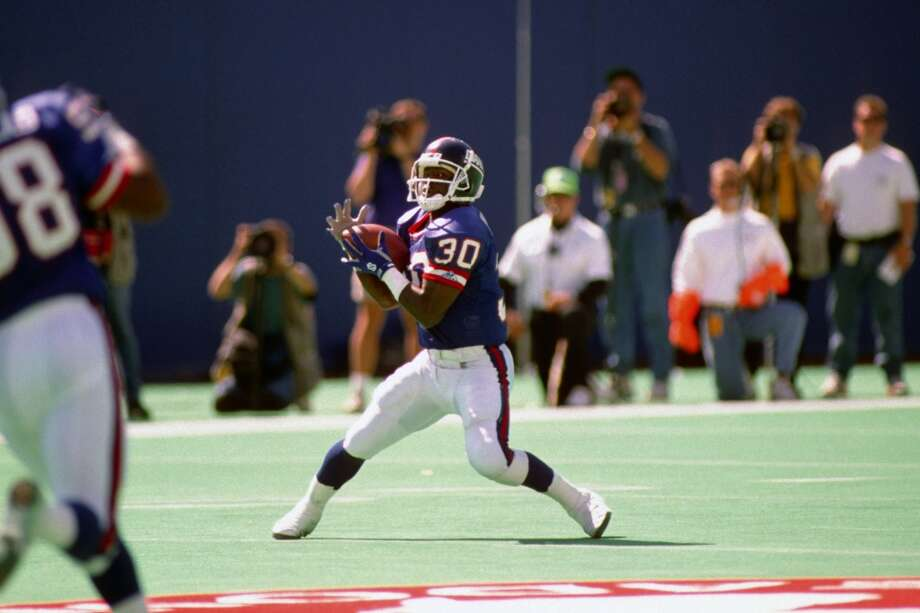Pick No. 132 | 1989 | New York GiantsDave Meggett | Running back | TowsonMeggett only started 12 games at running back in his 10-year career, but his return ability made him one of the Bill Parcells' most dangerous weapons. Meggett totaled 8 return touchdowns for the Giants and Patriots, and was a member of a New York team that won Super Bowl XXV over Buffalo. Photo: George Gojkovich, Getty Images