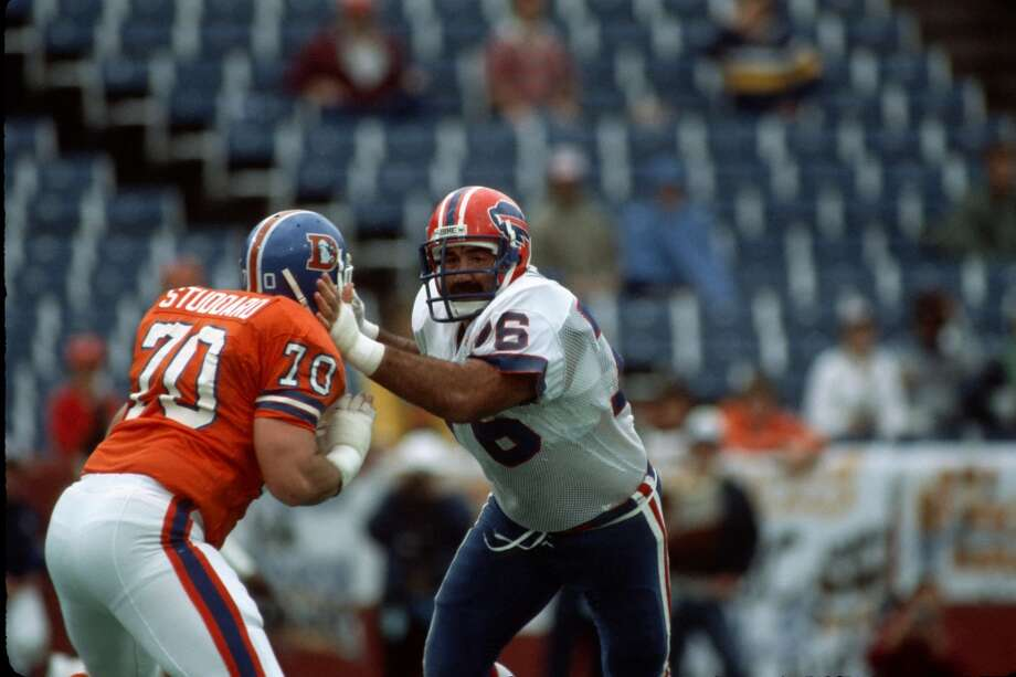 Pick No. 32 | 1979 | Buffalo Bills Fred Smerlas | Defensive tackle | Boston College Smerlas made an immediate impact with the Bills, making four consecutive Pro-Bowl appearances from 1980 through 1983 and a fifth in 1988. A true nose-tackle, Smerlas would go on to start 152 games for Buffalo over 11 seasons before finishing his career with the San Francisco 49ers and New England Patriots. Photo: George Gojkovich, Getty Images