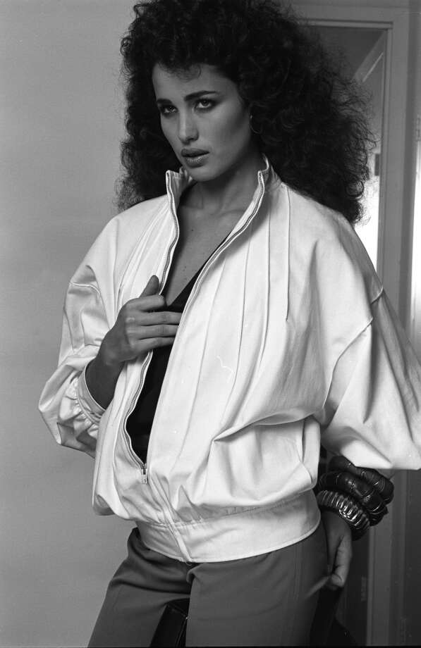 Here's Andie MacDowell in a shoot for Vogue from the '80s. Photo: Andrea Blanch, Getty Images