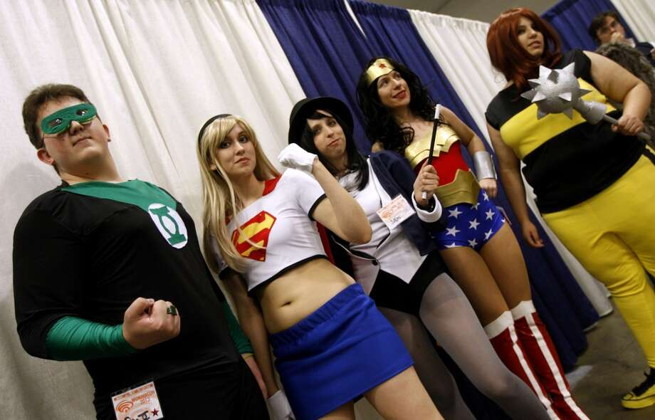 A group of friends dressed as the DC Comics group the Justice League attends the 2009 WonderCon. Photo: Paul Chinn, The Chronicle