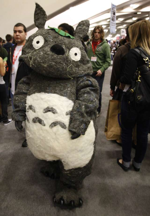 Totoro, aka Jackie Huang, wanders through the WonderCon comic book convention in San Francisco in 2010. Photo: Paul Chinn, The Chronicle