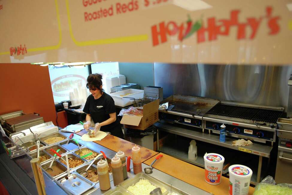 Hot Harry's Fresh Burrito: 596 Columbia Turnpike, East GreenbushCritical violations: 6Noncritical violations: 4Last inspection: 11/15/2016Violations: Accurate thermometers not available or used to evaluate potentially hazardous food temperatures during cooking, cooling, reheating and holding. Precooked, refrigerated potentially hazardous food is not reheated to 165F or above within two hours. Non food contact surfaces of equipment not clean. Handwashing facilities inaccessible, improperly located, dirty, in disrepair, improper fixtures, soap, and single service towels or hand drying devices missing.Inspection comments: Violations noted are not that different from last year's inspection. A re-inspection will be conducted next week. Probable enforcement action to follow.