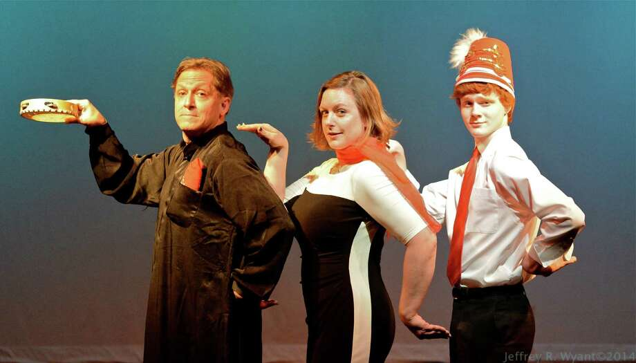 "Broadway talent comes to Darien with, from left, Larry Reina, Julie Thaxter-Gourlay and Nicholas Barasch who perform in ""Jacques Brel is Alive and Well and Living in Paris,"" which will be staged at the Darien Arts Center May 2, 3, 4, 9 and 10. Photo: Contributed Photo, Contributed / Darien News"