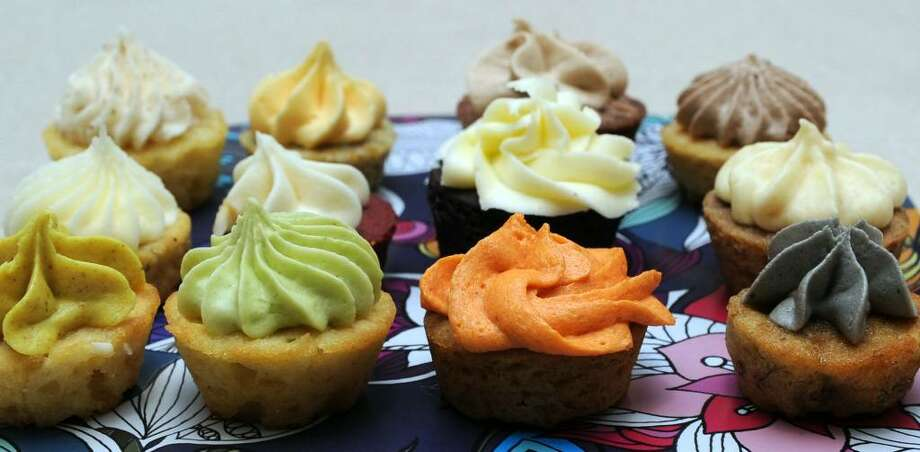 Some Things Fishy Catering offers an assortment of tiny cupcakes in unexpected flavors. Photo: Carol Kaliff / The News-Times