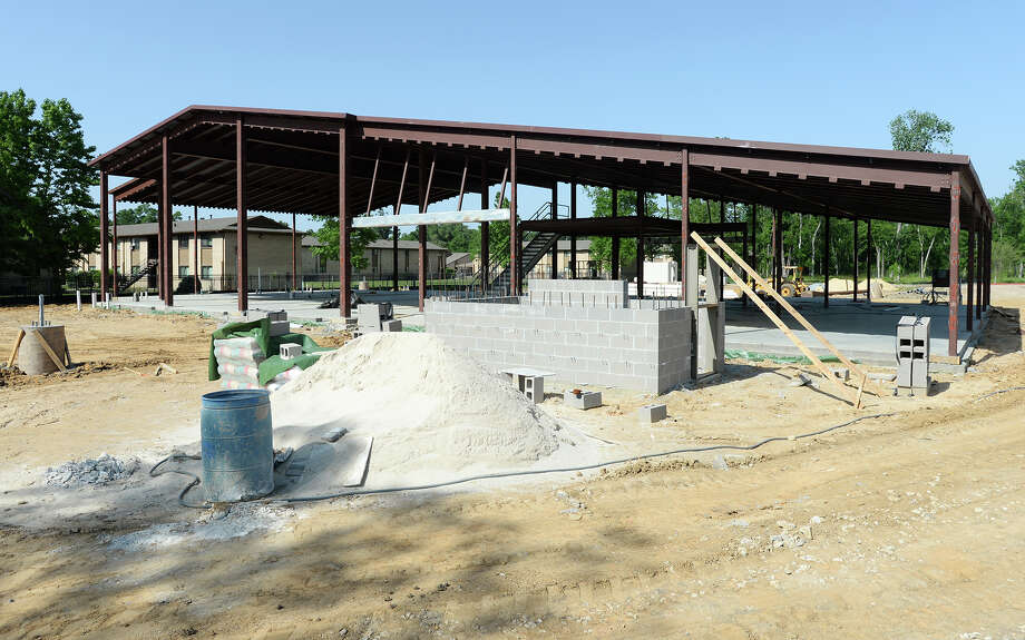 FIRE STATION NO. 2Under construction next to the Elmo Williard Library on East Lucas Drive and Helbig Road. The $2.7M project awarded to McInnis Construction is 18 percent complete. Funded by Hurricane Ike recovery grant. / ©2014 The Beaumont Enterprise/Jake Daniels