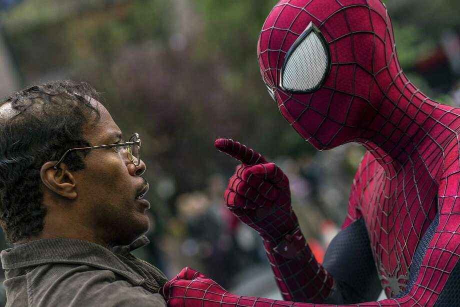 "Jamie Foxx, left, and Andrew Garfield star in ""The Amazing Spider-Man 2."" Photo: Niko Tavernise, HO / MCT"