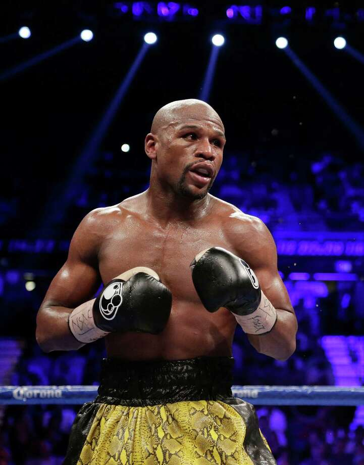 Floyd Mayweather is seen during a WBC welterweight title fight against Robert Guerrero, Saturday, May 4, 2013, in Las Vegas.(AP Photo/Rick Bowmer) Photo: Rick Bowmer, STF / AP