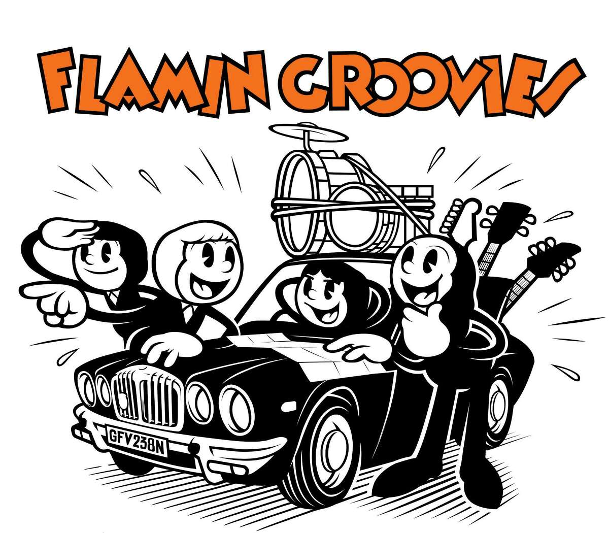 logo for rock band Flamin Groovies