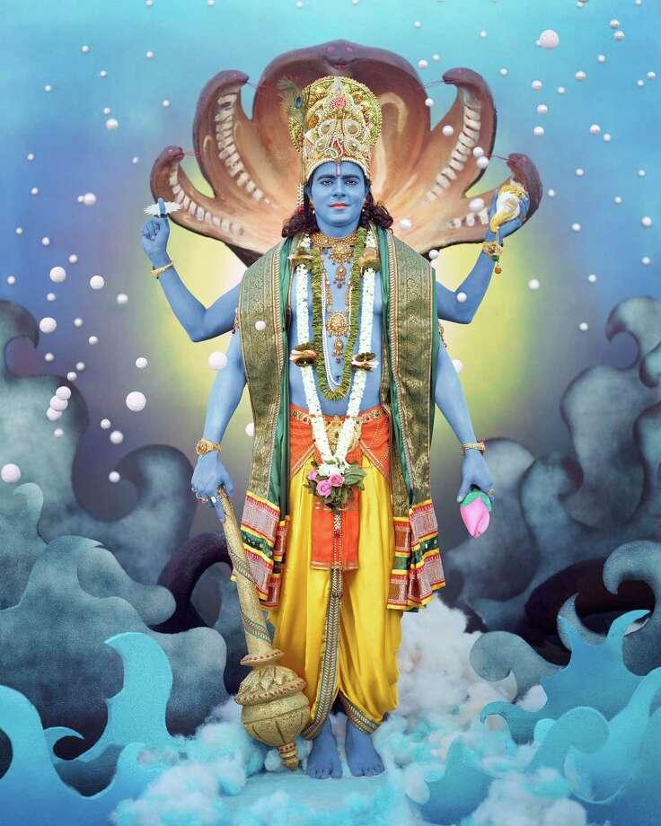 "Manjari Sharma's ""Lord Vishnu"" is among the elaborately-staged contemporary photographs. Photo: Manfari Sharma / ONLINE_YES"