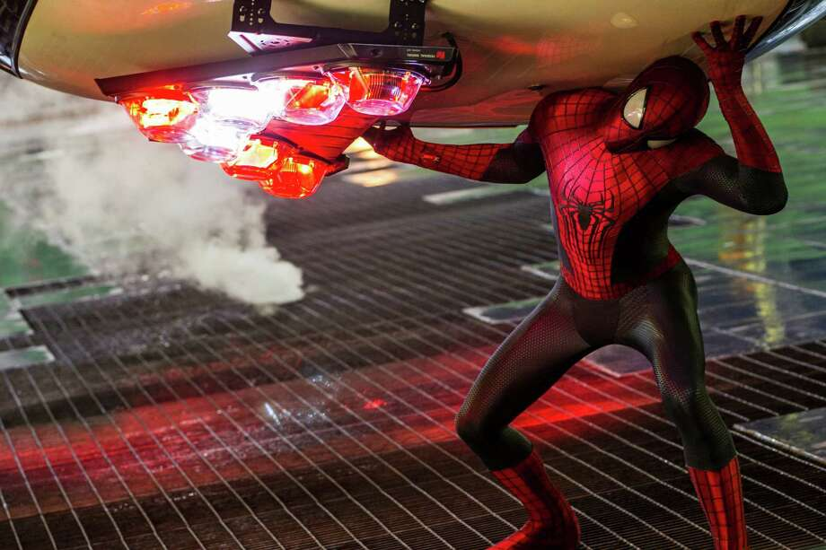 "Andrew Garfield stars as Spider-Man in Columbia Pictures' ""The Amazing Spider-Man 2,"" also starring Emma Stone. Photo: Niko Tavernise / © 2013 Columbia Pictures Industries, Inc.  All Rights Reserved. **ALL IMAGES ARE PROPERTY OF SONY PICTURES ENTERTAINMENT INC. FO"