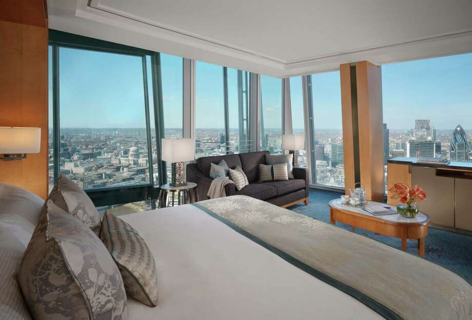 At the Shangri-La Hotel at The Shard in London, guest rooms are categorized by views, rather than by size. Photo: Niall Clutton / Niall Clutton