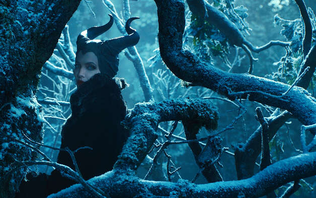"""Maleficent"" IMDb: 7.4/10Rotten Tomatoes: 50 percentReview by Mick LaSalle: Jolie enchants in fairy tale's back story Count ""Maleficent"" as one step further in the inevitable Joan Crawfordization of Jolie. Is anyone tougher - and I'm not talking about in the movies - but in the world? Her smooth face and big eyes, her natural composure and cold stare would be assets for any actress whose stock in trade is intimidation. Photo: Associated Press / Disney"