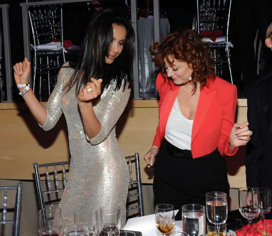 Padma Lakshmi and Susan Sarandon attend the TIME 100 Gala, TIME's 100 most influential people in the world at Jazz at Lincoln Center on April 29, 2014 in New York City. Photo: Kevin Mazur, Getty Images For TIME
