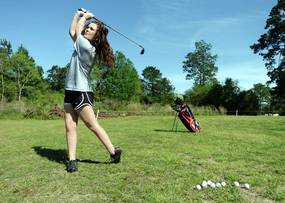 Silsbee's Allison Davis has been named a finalist for the girls player of the year award for the 2014 Babe Didrikson Zaharias Junior Golfer of the Year Awards. Jake Daniels/@JakeD_in_SETX Photo: Jake Daniels / ©2014 The Beaumont Enterprise/Jake Daniels