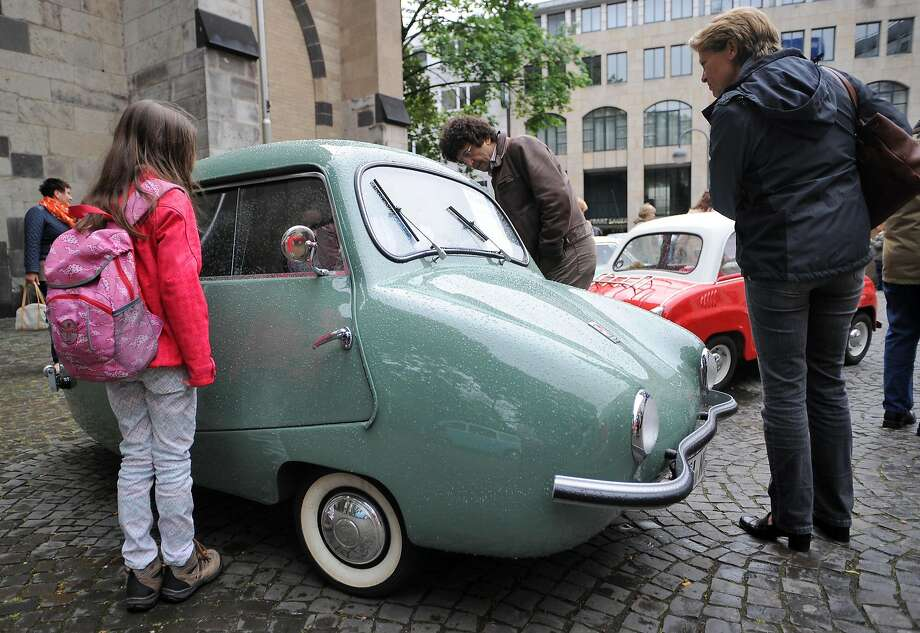 The grandaddy of tippable cars: Long before the first SmartCar rolled off the line, the Fuldamobil NWF 