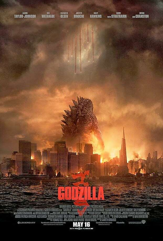 "Thursday: The new remake of the classic film ""Godzilla"" is premiered in Los Angeles. Photo: Warner Bros."