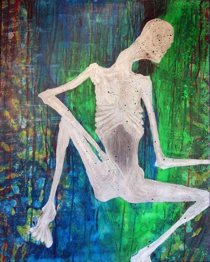 A painting by late Nirvana frontman Kurt Cobain. Photo: Anonymous, AP