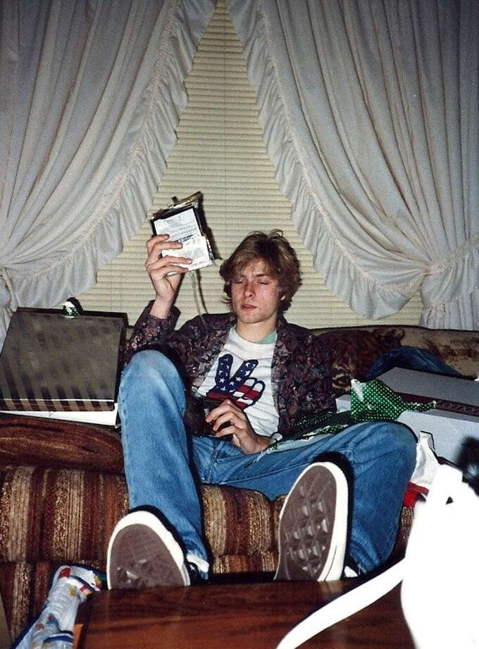 A young Kurt Cobain in his childhood home in Aberdeen, Wash. Photo: Courtesy Kim Cobain, AP