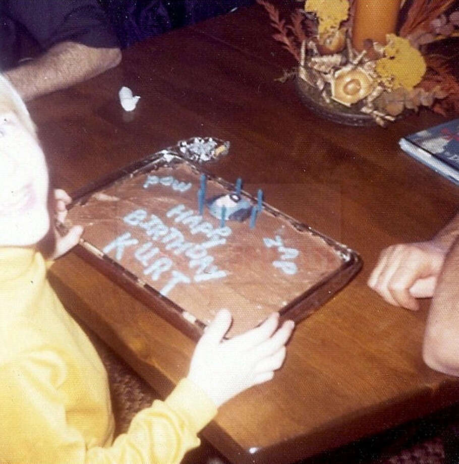 A young Kurt Cobain celebrates a birthday at his childhood home in Aberdeen, Wash. Photo: Courtesy Kim Cobain, AP / AP2013