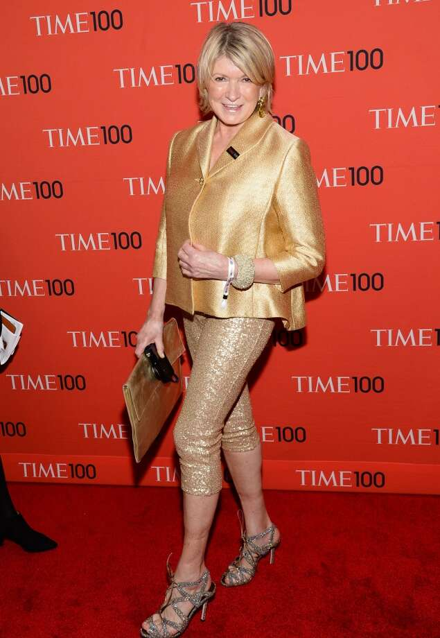 Martha Stewart arrives at the 2014 TIME 100 Gala held at Frederick P. Rose Hall, Jazz at Lincoln Center on Tuesday, April 29, 2014 in New York. Photo: Evan Agostini, Associated Press
