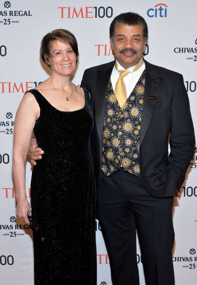 Alice Young and astrophysicist Neil deGrasse Tyson attend the TIME 100 Gala, TIME's 100 most influential people in the world, at Jazz at Lincoln Center on April 29, 2014 in New York City. Photo: Ben Gabbe, Getty Images For TIME