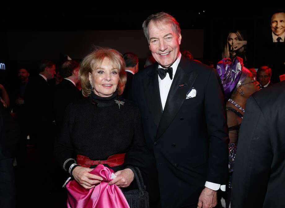 Barbara Walters and Charlie Rose attend the TIME 100 Gala, TIME's 100 most influential people in the world, at Jazz at Lincoln Center on April 29, 2014 in New York City. Photo: Jemal Countess, Getty Images For TIME