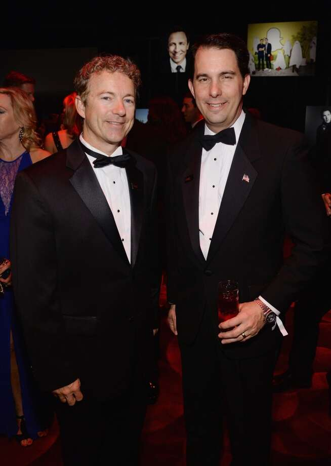 Honoree Rand Paul and Scott Walker attend the TIME 100 Gala, TIME's 100 most influential people in the world, at Jazz at Lincoln Center on April 29, 2014 in New York City. Photo: Larry Busacca, Getty Images For TIME