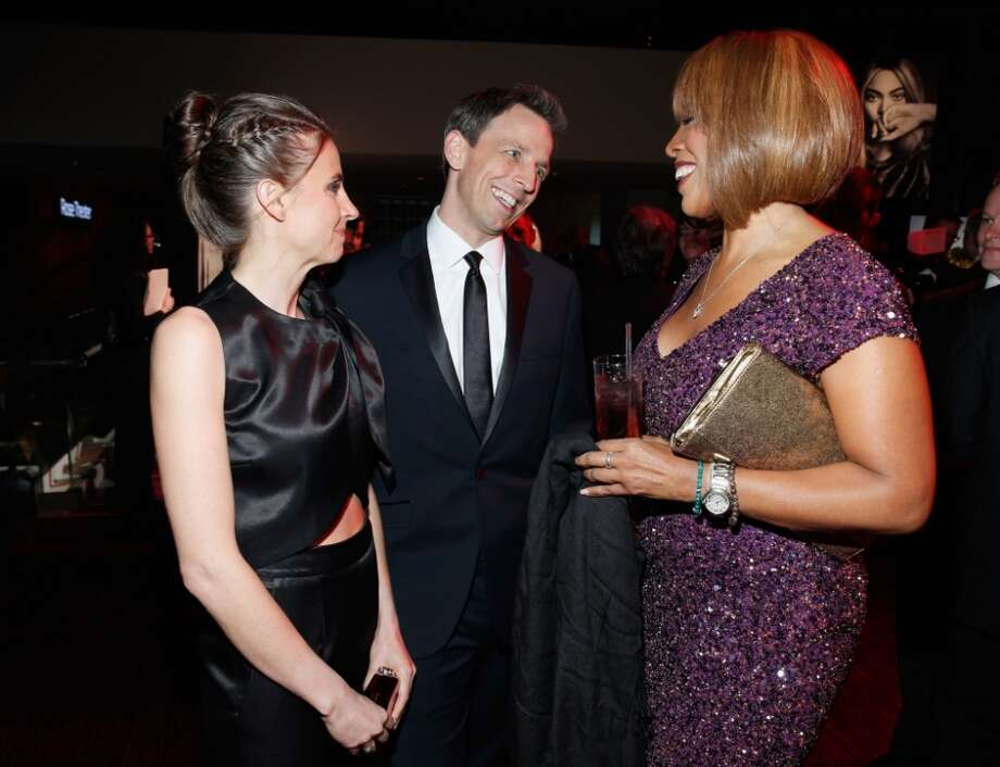(L-R) Alexi Ashe, honoree Seth Meyers, and Gayle King attends the TIME 100 Gala, TIME's 100 most influential people in the world, at Jazz at Lincoln Center on April 29, 2014 in New York City. Photo: Jemal Countess, Getty Images For TIME
