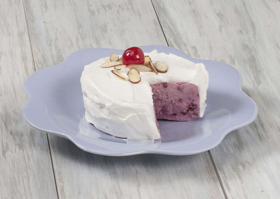 This Cherry-Almond mini frozen yogurt cake would make any mom smile on Mother's Day. (Jodie Fitz)
