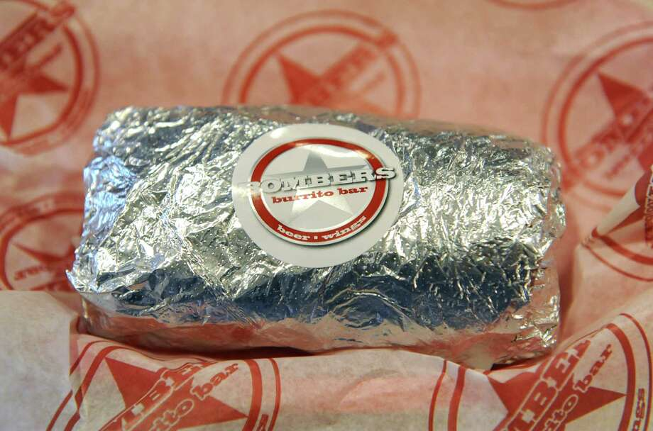 A finished burrito at Bombers Burrito Bar on Lark St. Monday, April 28, 2014 in Albany, N.Y  (Lori Van Buren / Times Union) Photo: Lori Van Buren / 00026639A