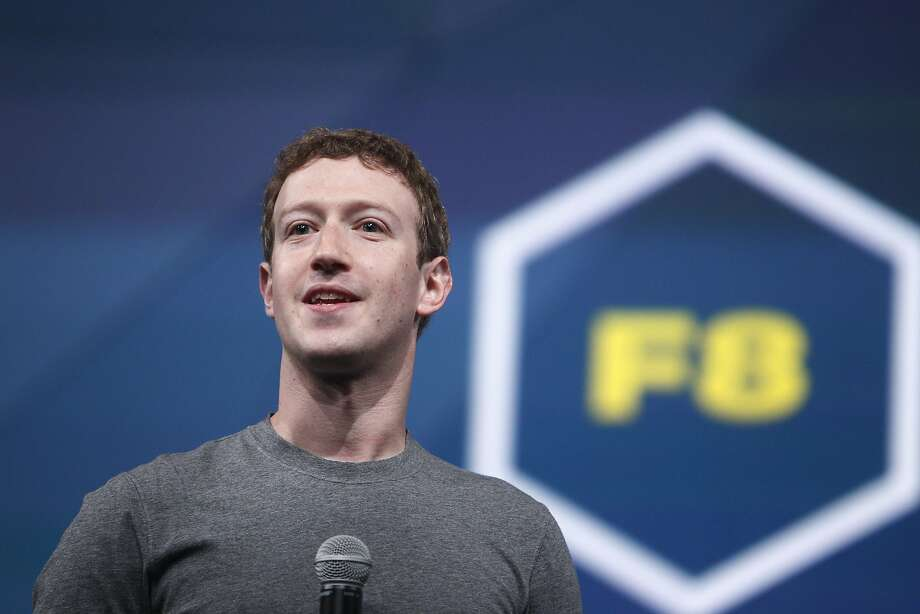 Mark Zuckerberg, Facebook chief executive officer, speaks during the opening keynote at Facebook's F8 developers conference on April 30 in San Francisco.  Photo: Lea Suzuki, The Chronicle