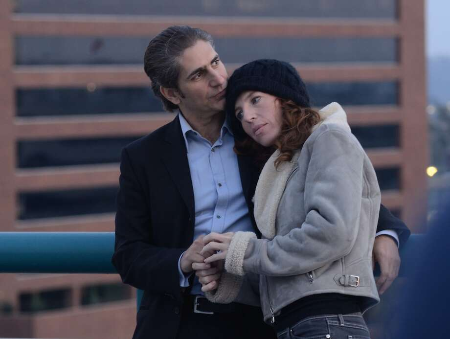 """Charlie (Michael Imperioli) and Moxie (Tanna Frederick) hit it off in """"The M Word."""" Photo: Rainbow Film"""