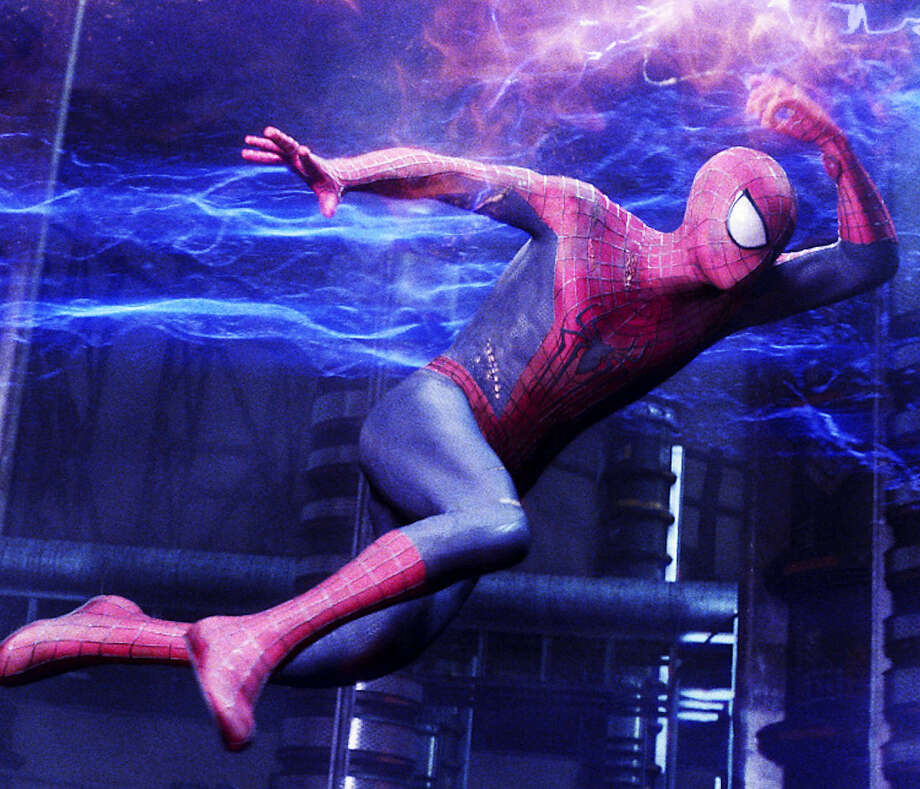 "Andrew Garfield plays the title character in ""The Amazing Spider-Man 2."" Photo: Columbia Pictures - Sony Pictures / ©2013 CTMG. All Rights Reserved. All Rights Reserved. **ALL IMAGES ARE PROPERTY OF SONY PICTURES ENTERTAINMENT INC. FOR PROMOTI"
