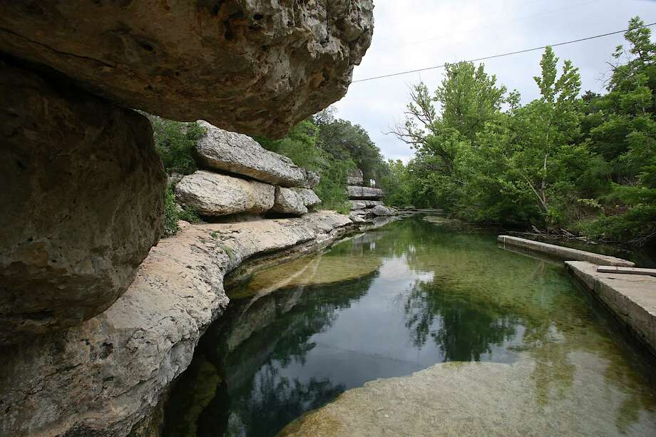 Hays County and the City of Kyle plan to join a coalition of Texas Hill Country landowners in a lawsuit to fight eminent domain laws and the route of the Permian Highway Pipeline. Opponents of the natural gas pipeline project say the route runs through neighborhoods and less than a mile way from Jacob's Well, a popular swimming hole near Wimberley. Photo: Clay E Ewing