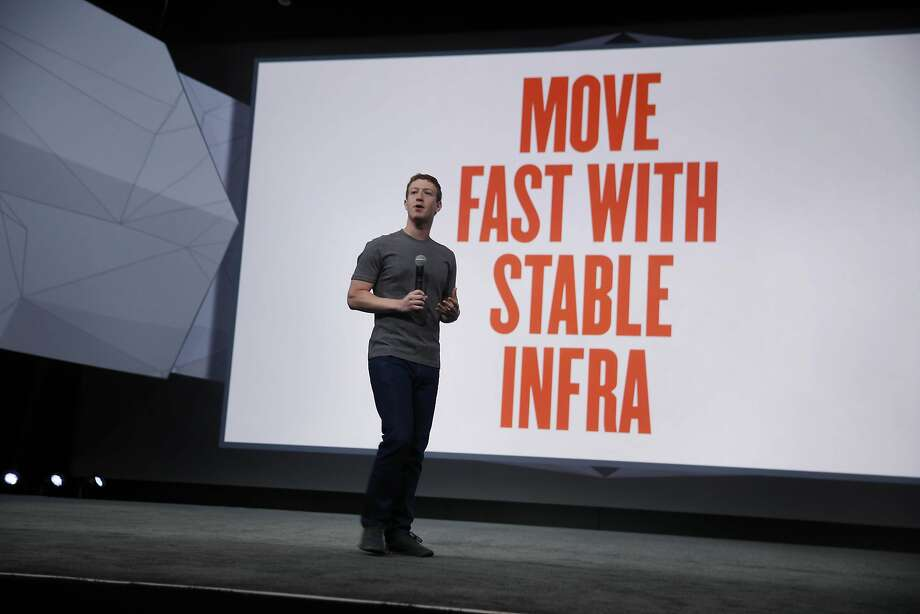 Zuckerberg says that Facebook has changed strategy from moving fast to building the best tools. Photo: Lea Suzuki, The Chronicle