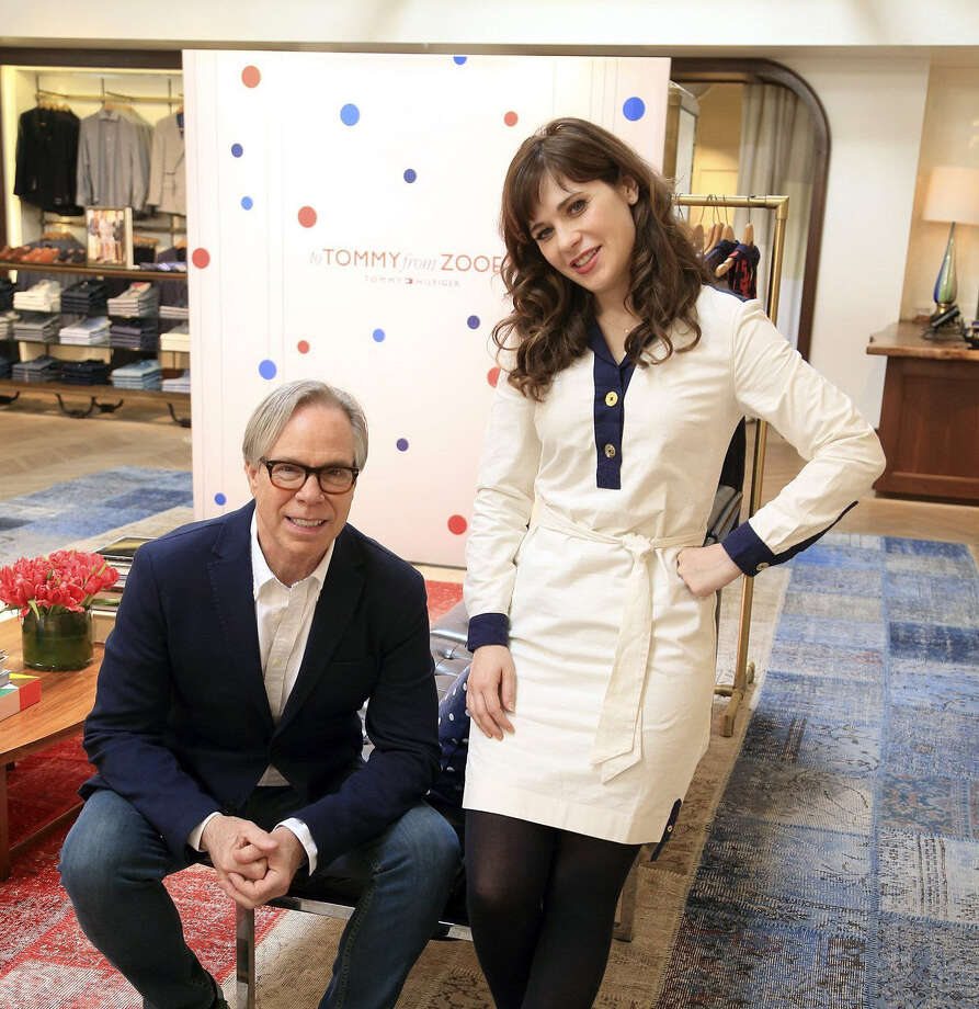Actress Zooey Deschanel has teamed with Tommy Hilfiger to create a line of clothing that pairs '60s mod with Hilfiger's red, white and blue nautical styles. Photo: Mark Boster / Los Angeles Times / Los Angeles Times