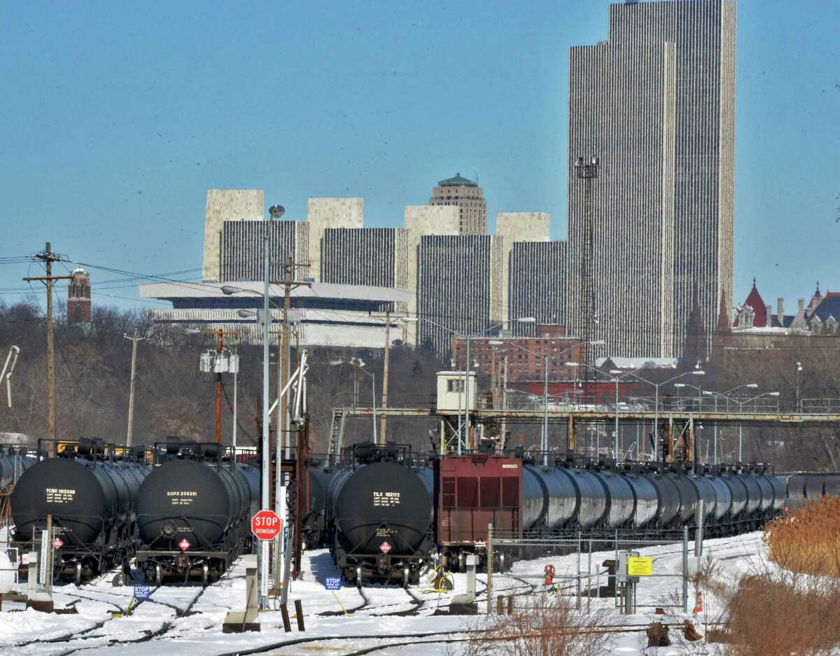 Rail tank cars at the Port of Albany Wednesday Feb. 12, 2014, in Albany, NY. (John Carl D'Annibale / Times Union)