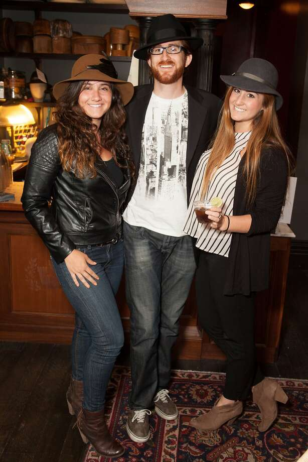 Tiffany Podesta, Brian Eli, and Lindsey Eli at Goorin Brothers Hats for the Chronicle Style Launch on April 23rd, 2014 in San Francisco, CA. Photo: Dan Dion, Special To The Chronicle