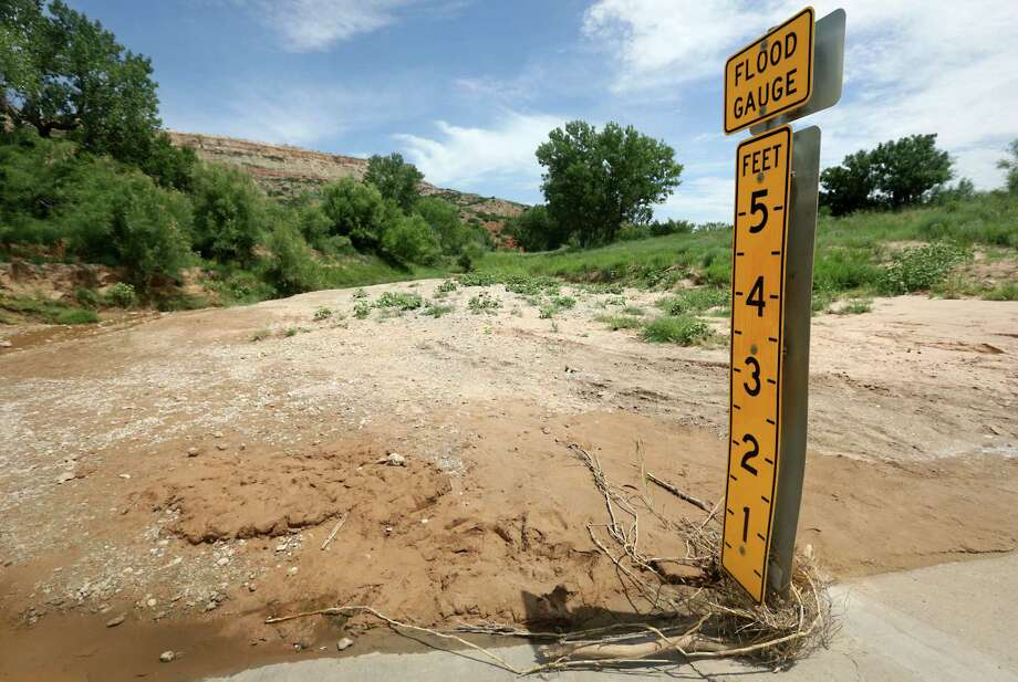 The dried up Red River in Palo Duro Canyon State Park near Canyon is pictured in 2013. Photo: Bob Owen, Staff / © 2012 San Antonio Express-News