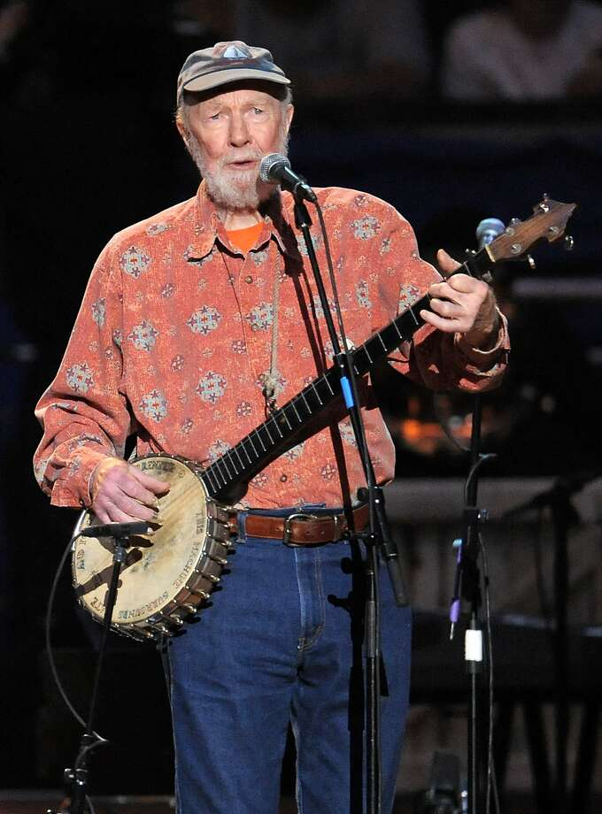 A celebration featuring music and film will pay tribute to famed folk singer Pete Seeger. Photo: Evan Agostini, Associated Press
