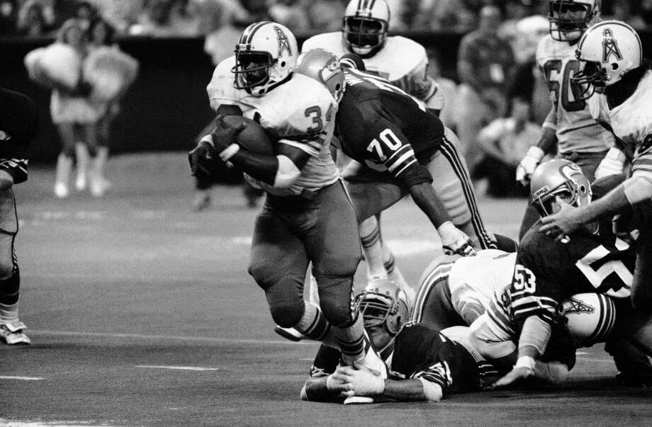 1977: Terry Beeson41st-overall pick   Position: Linebacker   College: KansasBeeson (pictured attempting a shoestring tackle) jumped in and became a starter right off the bat, to use a baseball metaphor. He started 67 of his 77 games with the Seahawks through 1981, and saw action in five games his final year in the NFL as a San Francisco 49er. Beeson still holds the Seahawks record for tackles in a single season with 153 in 1978. Photo: F. Carter Smith, ASSOCIATED PRESS