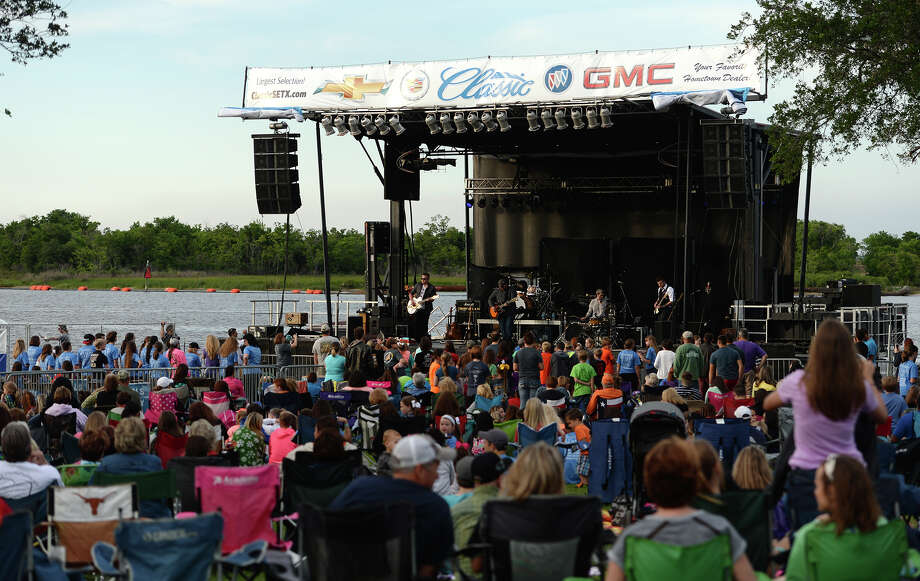 The crowd listens on as Micah Tyler takes the stage at RiverFest on Thursday afternoon. Wednesday marked the first night of the Port Neches RiverFest. The first night was designated as Youth Night and featured Christian musical performances from Micah Taylor, About a Mile, City Harbor, and Sidewalk Prophets. Later performances will include Wayne Toups, Roger Creager, and the Molly Ringwalds. 