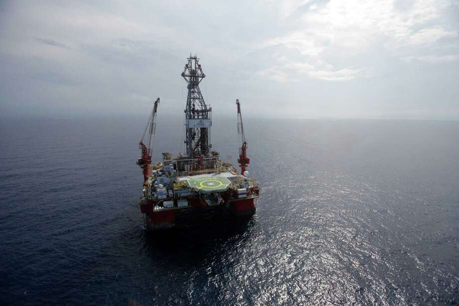The Centenario deep-water drilling platform is off the coast of Veracruz. Mexico is opening up its state-owned oil and energy industry. Photo: Dario Lopez-Mills, STF / AP