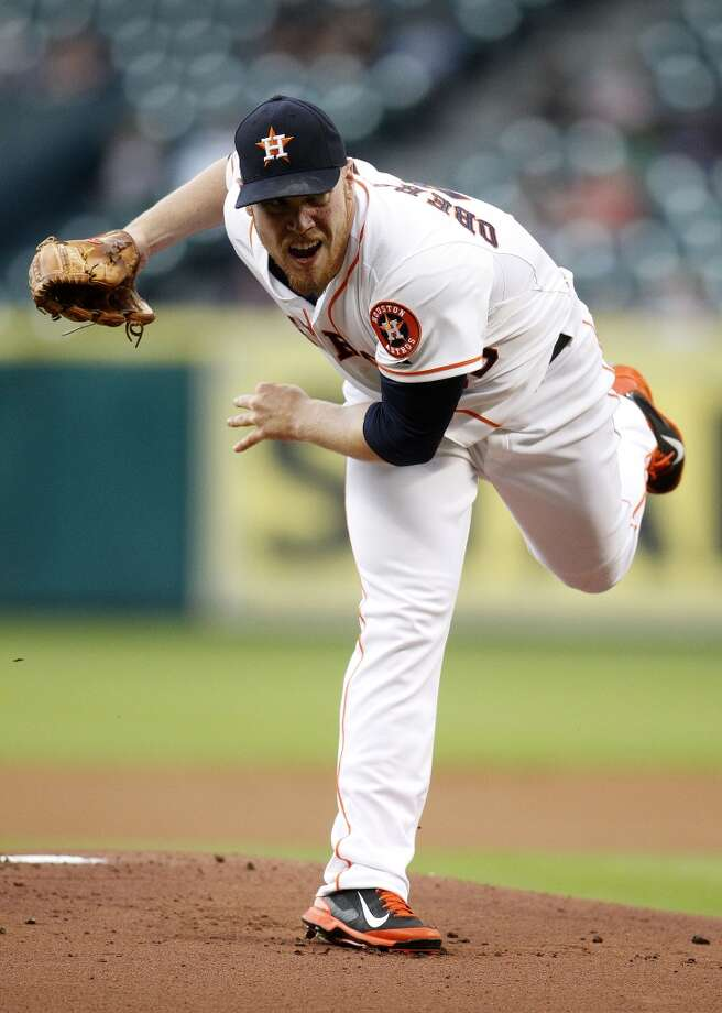 April 30: Nationals 7, Astros 0Astros starting pitcher Brett Oberholtzer pitches. Photo: Karen Warren, Houston Chronicle