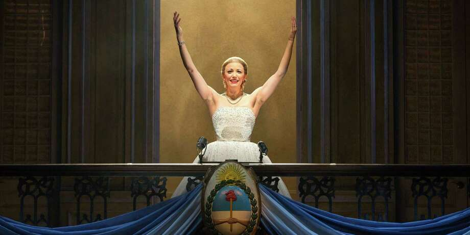 "Caroline Bowman plays the title role in the national tour of ""Evita,"" which includes a stop Thursday through Sunday at the Majestic Theatre. Photo: Richard Termine / Courtesy Photo / © 2013 Richard Termine"