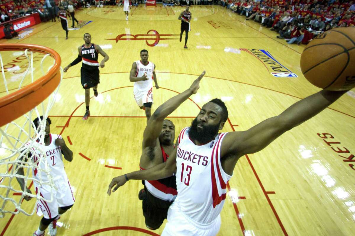 10. James Harden (2013-14) Honors:All NBA First-Team Stats: 25.4 points, 6.1 assists, 1.6 steals, 23.5 Player Efficiency Rating, 12.8 Win Shares, 5.4Value Over Replacement Team: 54-28. Lost to the Blazers in the first round. This season Harden began to cement himself as a top-end shooting guard in the league. Though his scoring average flat-lined, Harden saw improvements in his shooting percentage and assists in his second year in Houston. The difference in Harden's game and leadership was most apparent looking at the Rockets' record, improving nine games in the win column and three seeds in the conference standings. The Daryl Morey vision, with Harden at the helm, began to crystallize this season.