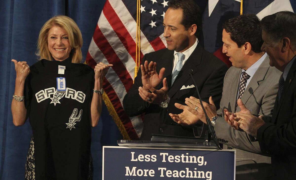 Democratic gubernatorial hopeful Wendy Davis has proposed policies to de-emphasize the role of standardized tests.