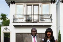 James Ephraim and Carrie Ephraim in their Hyde Park town home April 21, 2014 in Houston. (Eric Kayne/For the Chronicle)