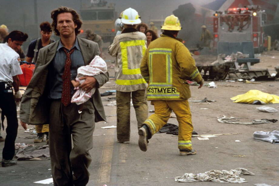 FEARLESS -- not only shouldn't you watch this on a plane.  You probably shouldn't watch this with a plane ticket.  This has the single most disturbing air crash ever filmed -- from director Peter Weir who based the scene on the testimony of crash survivors. Photo: Mondadori, Mondadori Via Getty Images / Mondadori Portfolio